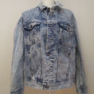 Acid wash denim jacket LG